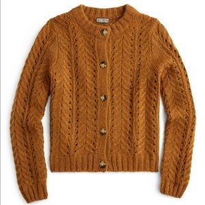 🍂NWOT J Crew Point Sur Pointelle Cardigan Sweater